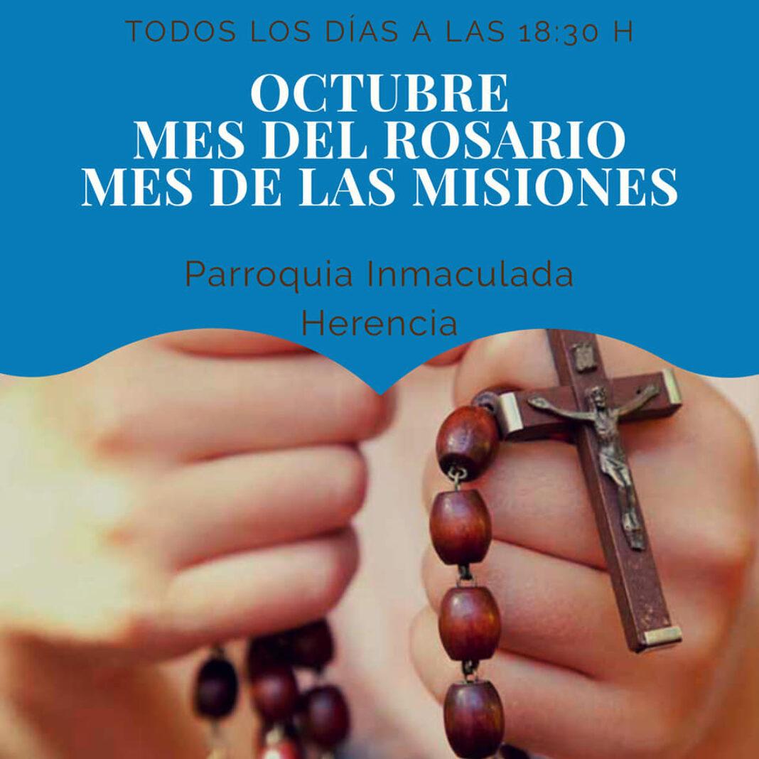 octubre mes del rosario en la parroquia 1068x1068 - Octubre, mes dedicado al rosario y las misiones en el templo parroquial y el convento