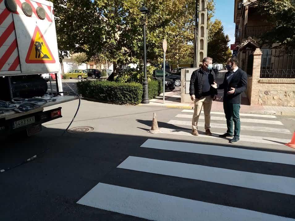 pintado de viales en Herencia1 - Pintados más de 1000 m2 de vial en Herencia