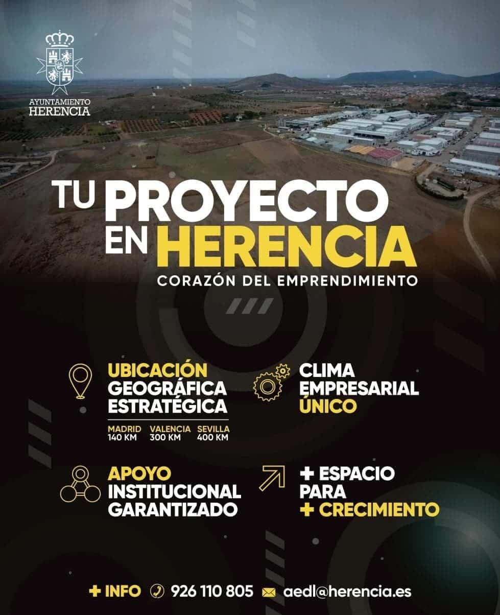 tu proyecto herencia emprendimiento - Abiertas las licitaciones para la II ampliación del Polígono Industrial en Herencia