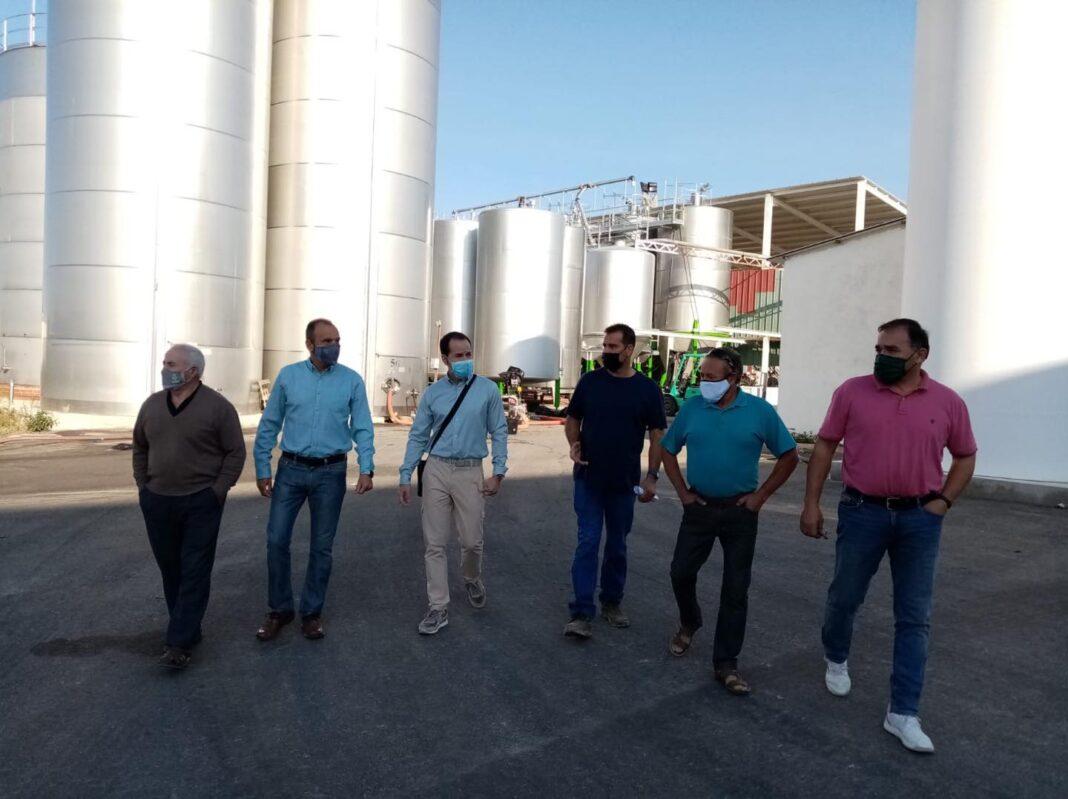 visita a la cooperativa La Encarnacion Grupo Montes Norte de Herencia 1068x799 - Recta final de la campaña de vendimia en Herencia