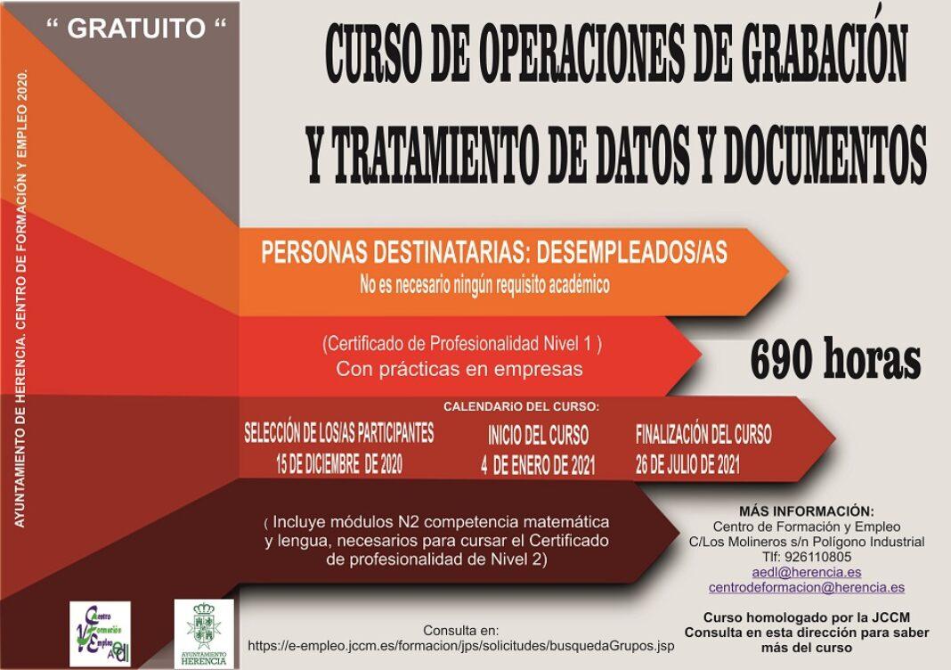 Nuevo curso de Operaciones de grabación y tratamiento de datos y documentos 1