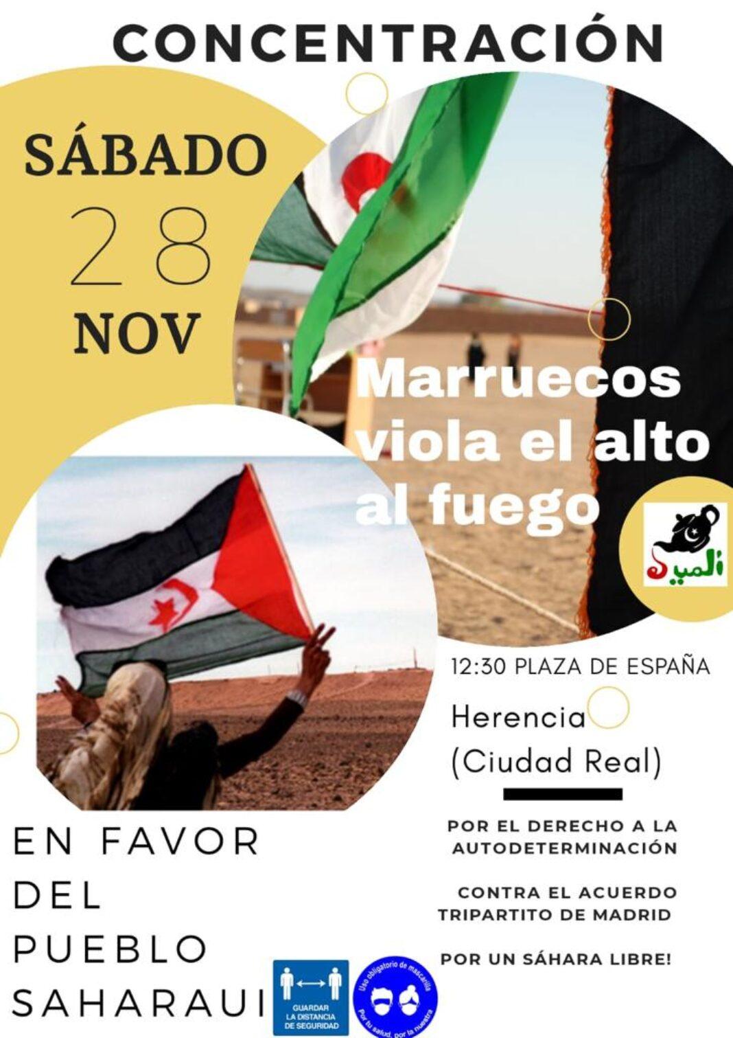 Concentración en favor del pueblo saharaui el sábado 28 en Herencia 4