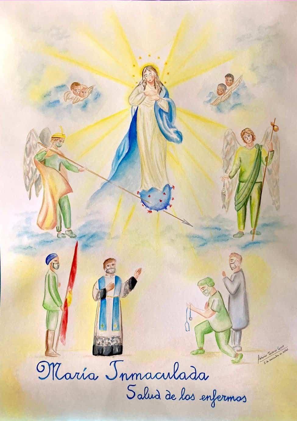 Maria Inmaculada Salud de los Enfermos - Presentado el cartel y actos en honor a la Inmaculada Concepción