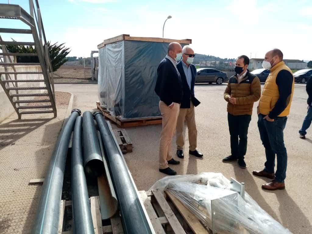 obras estacion depuradora aguas residuales1 - Obras de mejora de eficiencia energética y aumento de la vida útil de la Estación Depuradora de Aguas Residuales