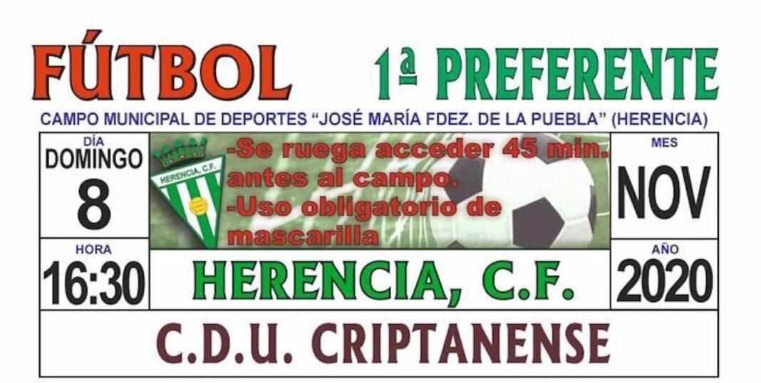preferente herencia criptanenese 1068x538 - Vuelve el fútbol al Fernández de la Puebla en Herencia este fin de semana