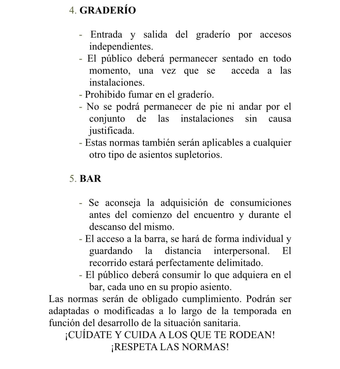 protocolo covid futbol herencia 2 - Vuelve el fútbol al Fernández de la Puebla en Herencia este fin de semana