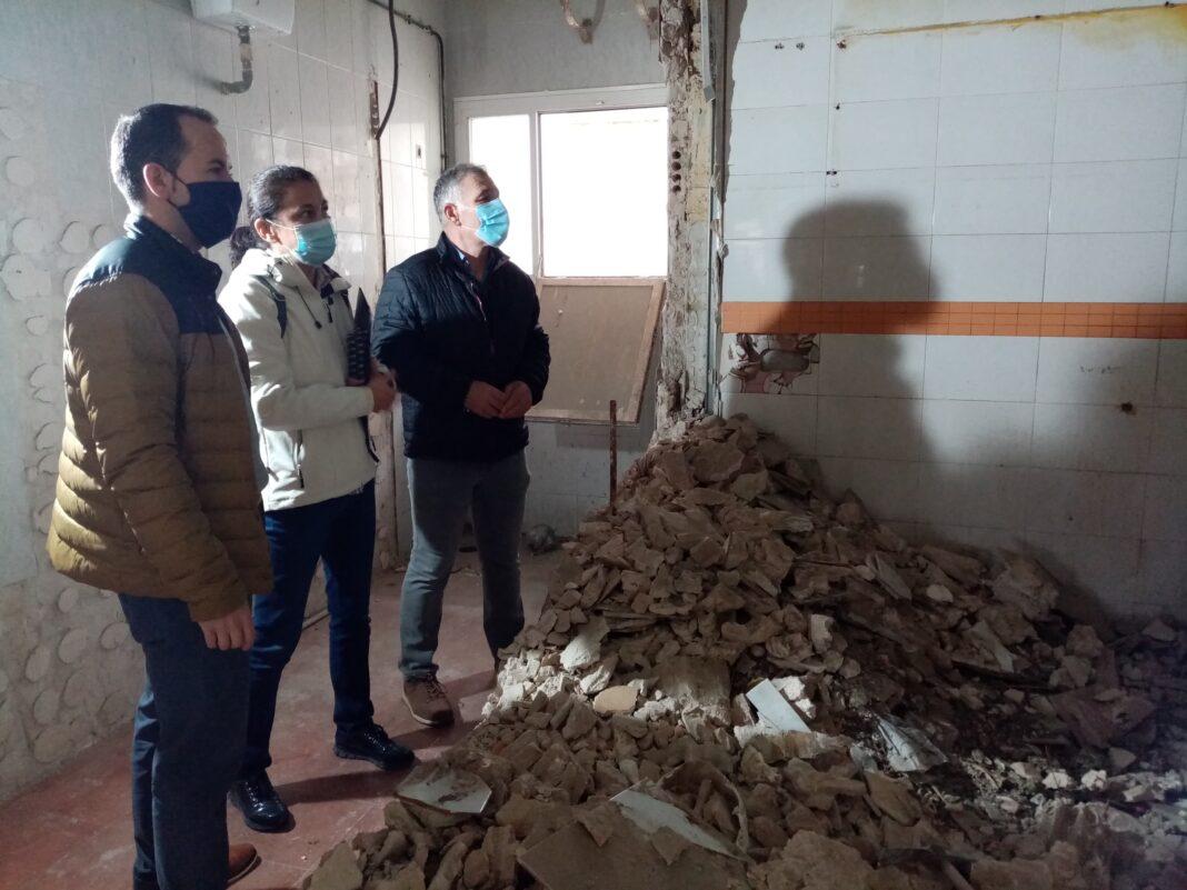 """rehabilitacion casino herencia 2 1068x801 - El edificio municipal """"El Casino"""" comienza su intervención estructural y rehabilitación"""