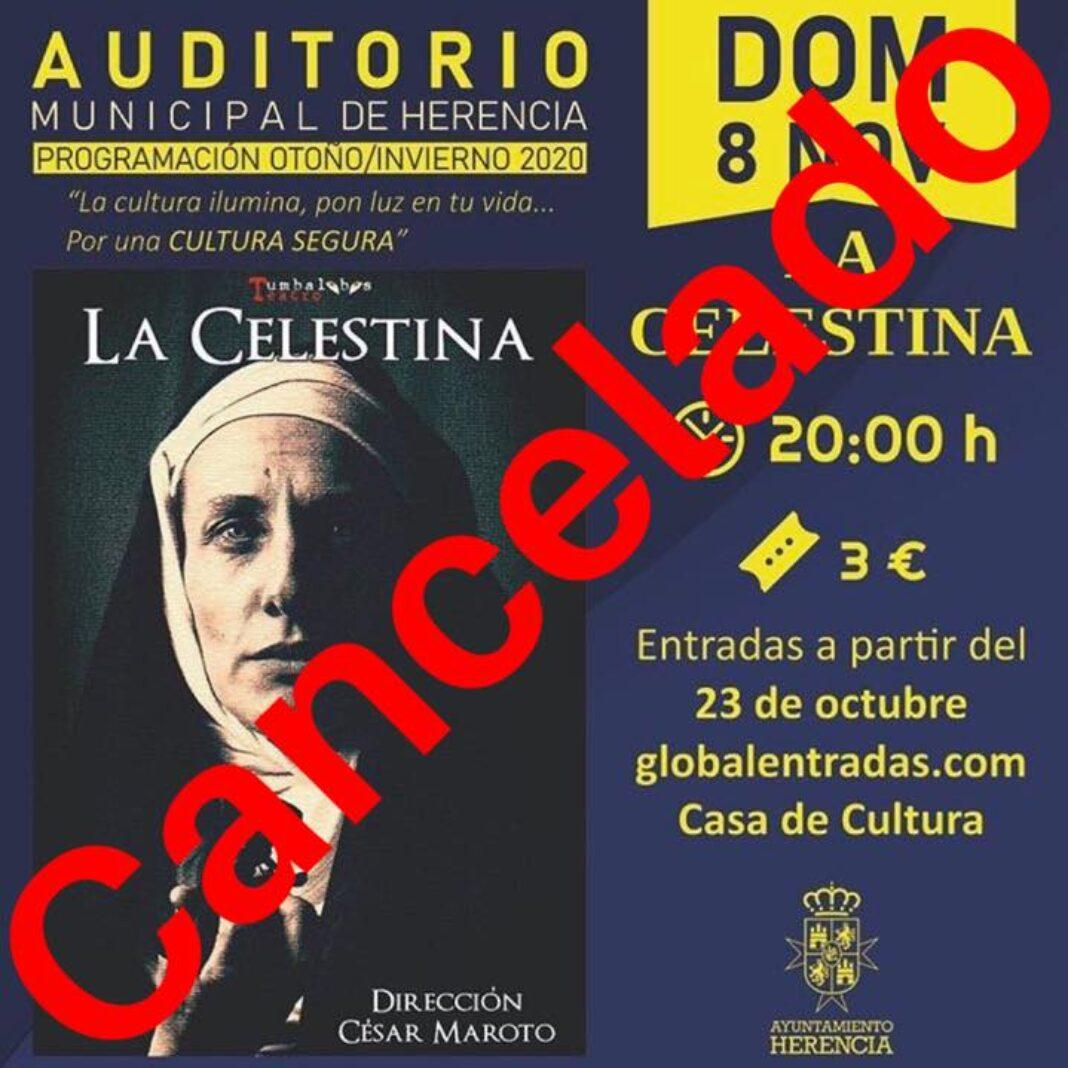 """Cancelado el espectáculo de """"La Celestina"""" que se iba a celebrar en el auditorio municipal 1"""