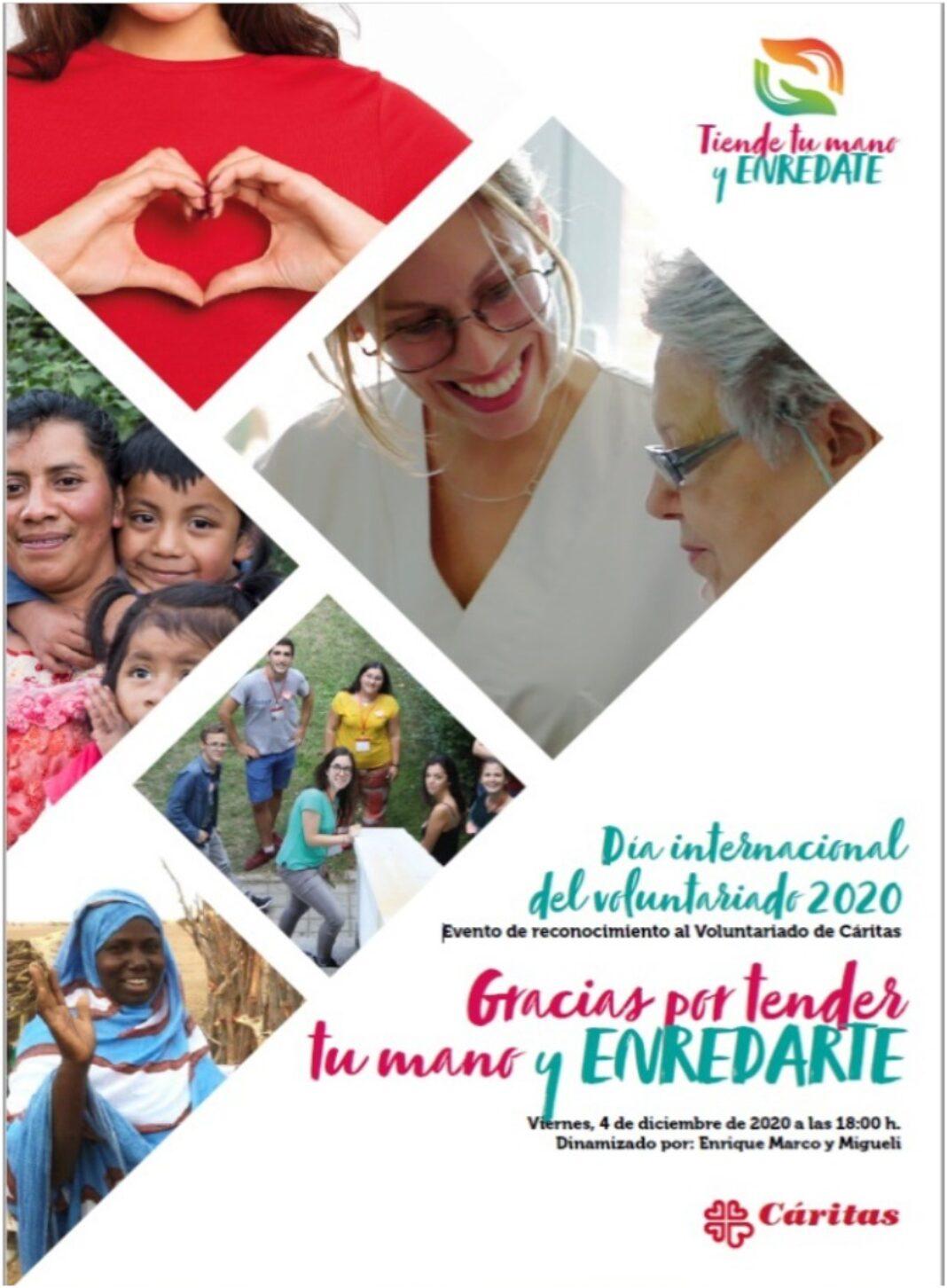 Cáritas Parroquial Herencia en el encuentro virtual del Cáritas por el Día del Voluntariado 1