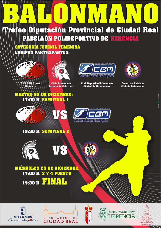 Herencia acogerá el Trofeo Diputación Provincial de Balonmano femenino 3
