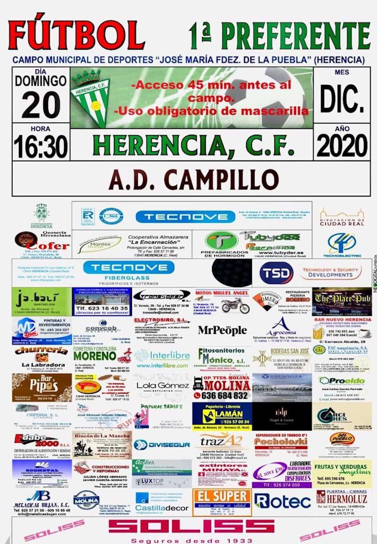 Fútbol en Herencia este fin semana 19 y 20 de diciembre 3