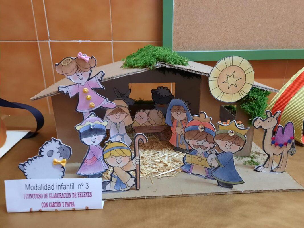 Celebrado el I Concurso de Belenes realizado con cartón y papel 55