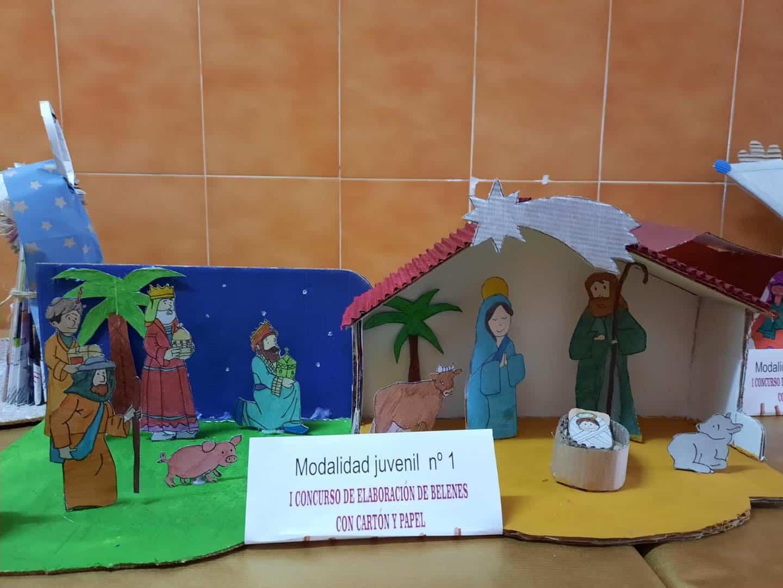 Celebrado el I Concurso de Belenes realizado con cartón y papel 49