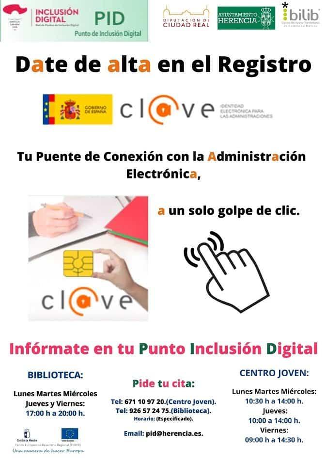 Los puntos de Inclusión Digital de Herencia permiten darse de alta en Cl@ve 1
