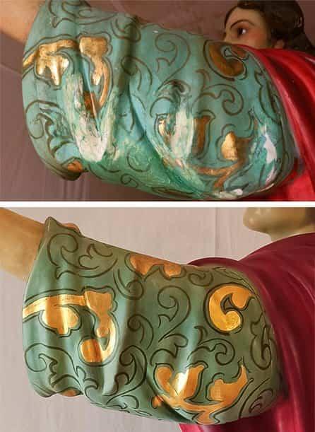 Taller Amaro restaura la imagen de San Juan Evangelista de Herencia 3