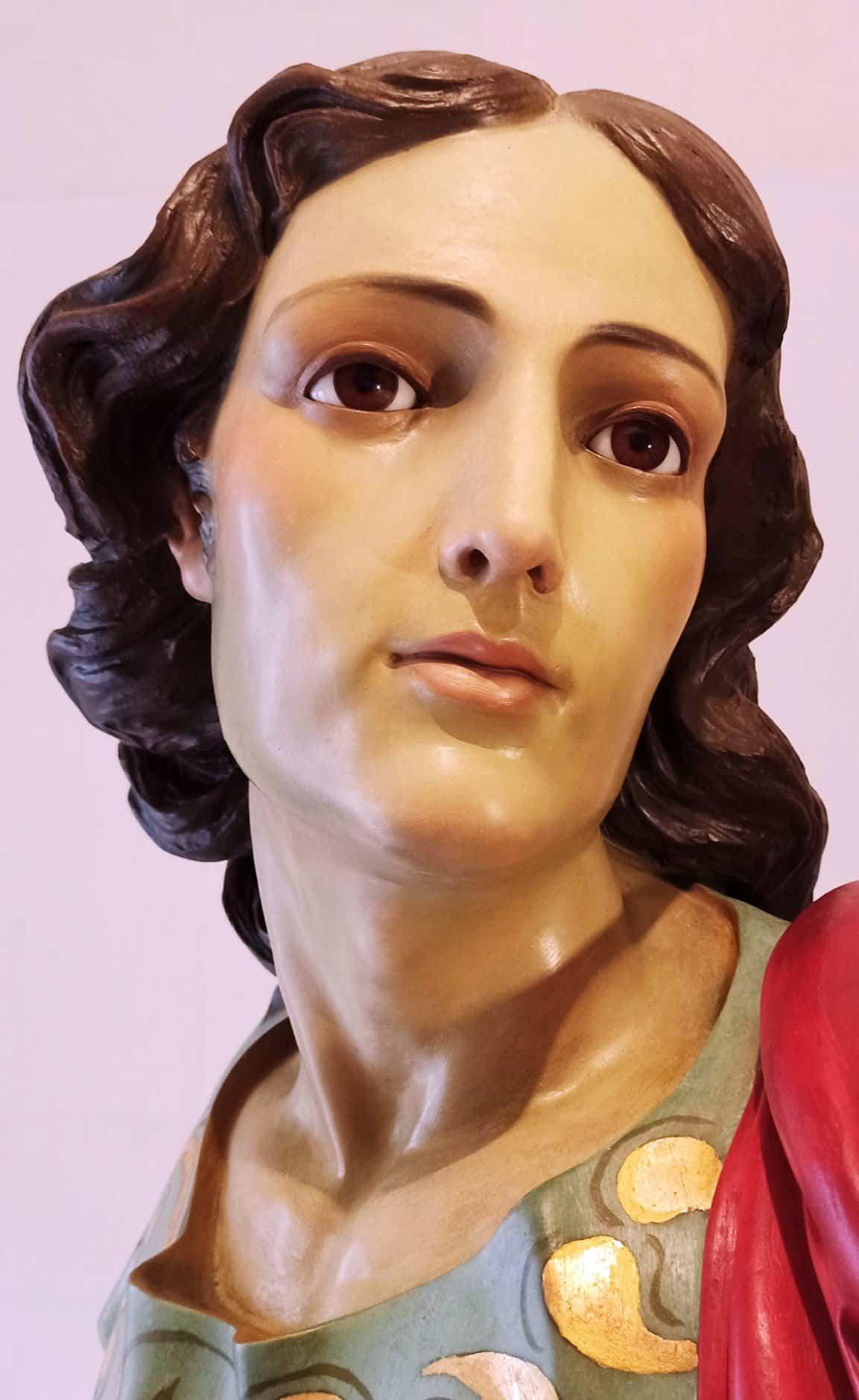 Taller Amaro restaura la imagen de San Juan Evangelista de Herencia 2