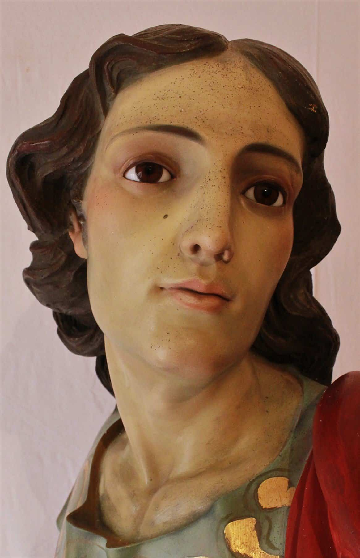 Taller Amaro restaura la imagen de San Juan Evangelista de Herencia 1