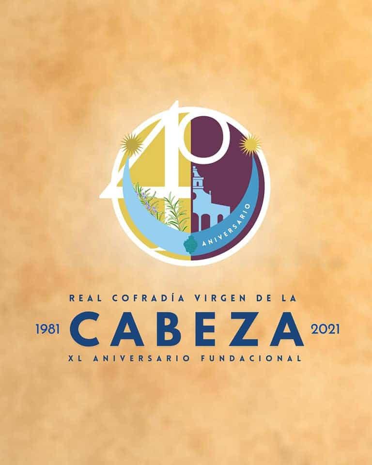Imagen conmemorativa del 40 aniversario de la cofradía de la Virgen de la Cabeza de Herencia 3