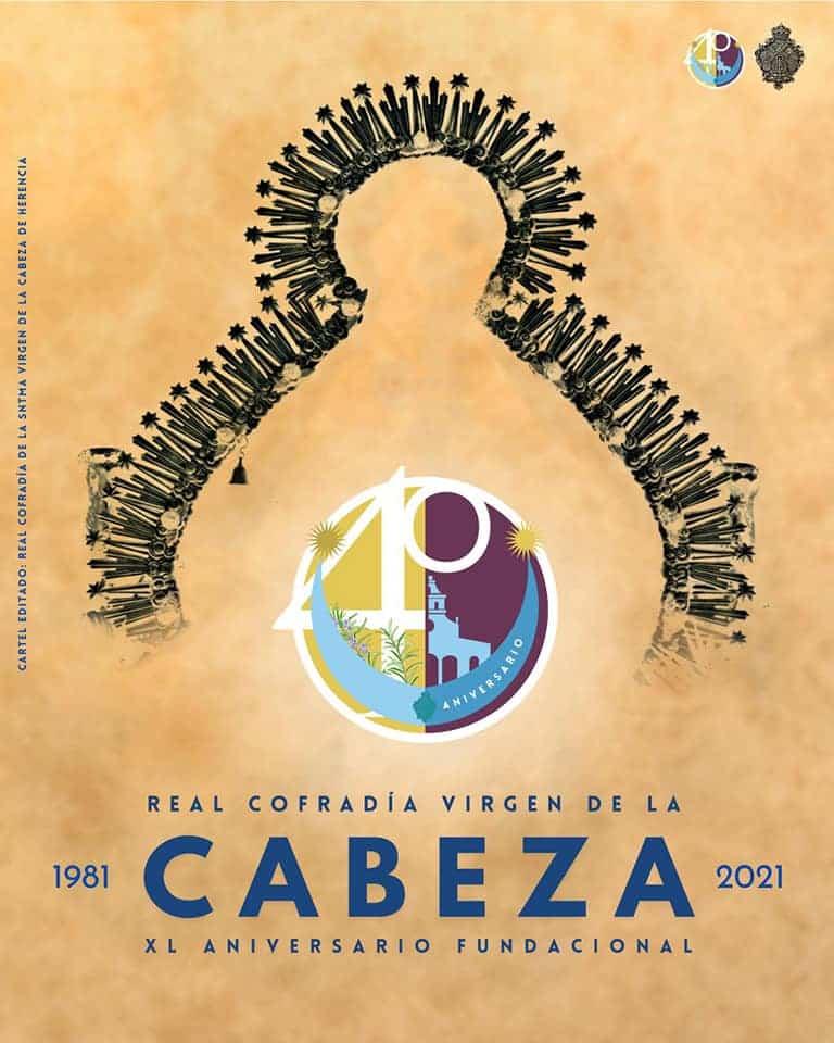 Imagen conmemorativa del 40 aniversario de la cofradía de la Virgen de la Cabeza de Herencia 4