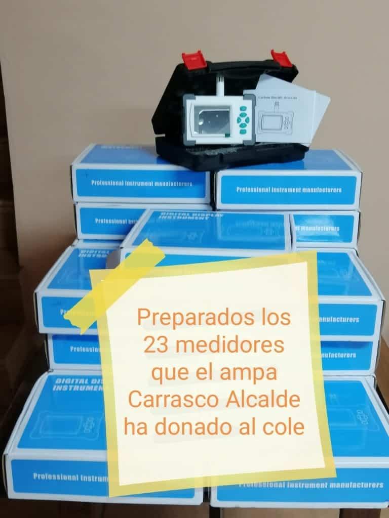 El AMPA del Carrasco Alcalde adquiere 23 medidores de CO2 para las aulas del CEIP Carrasco Alcalde 1
