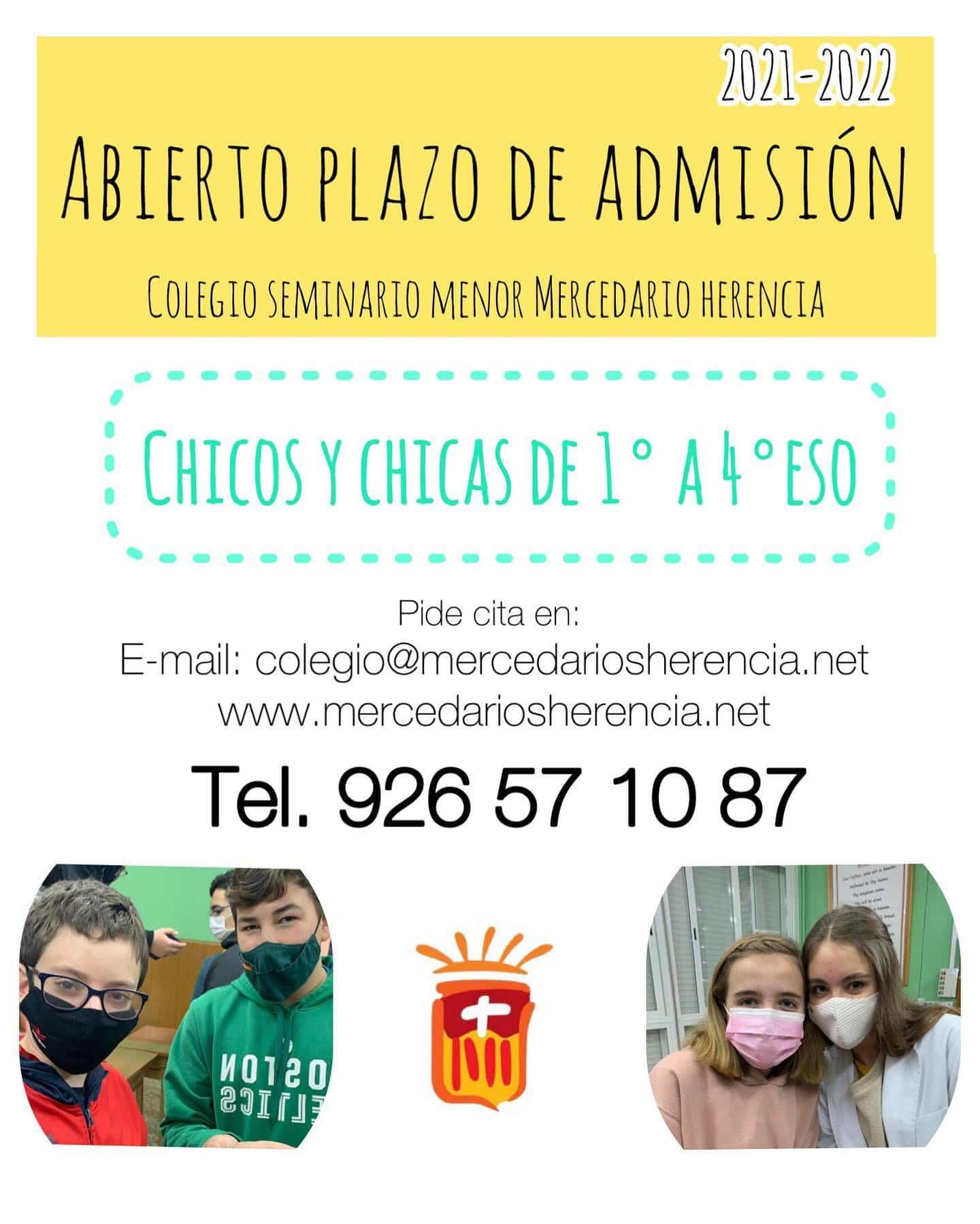 Los centros educativos mercedarios de Herencia abren el plazo de admisión para sus colegios 6