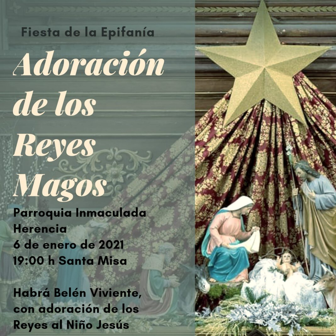 La parroquia de Herencia celebra la Epifanía con un belén viviente 1