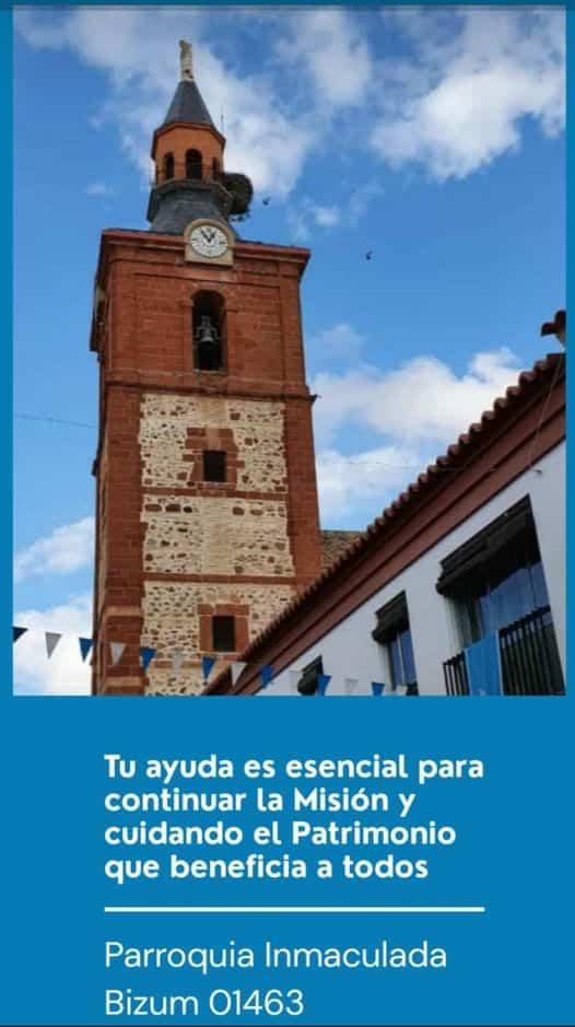 La parroquia de Herencia estrena un sistema de donaciones a través de BIZUM 1