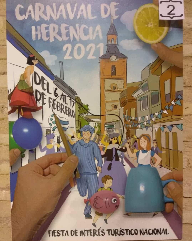 Conoce los 4 carteles del concurso para el Carnaval de Herencia 2021 10