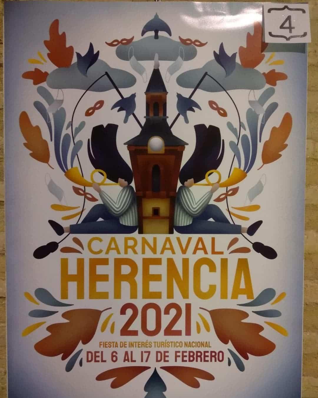 Conoce los 4 carteles del concurso para el Carnaval de Herencia 2021 12