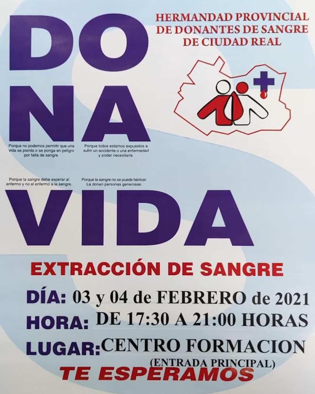El 4 y 5 de febrero se podrá donar sangre en el Centro de Formación de Herencia 3