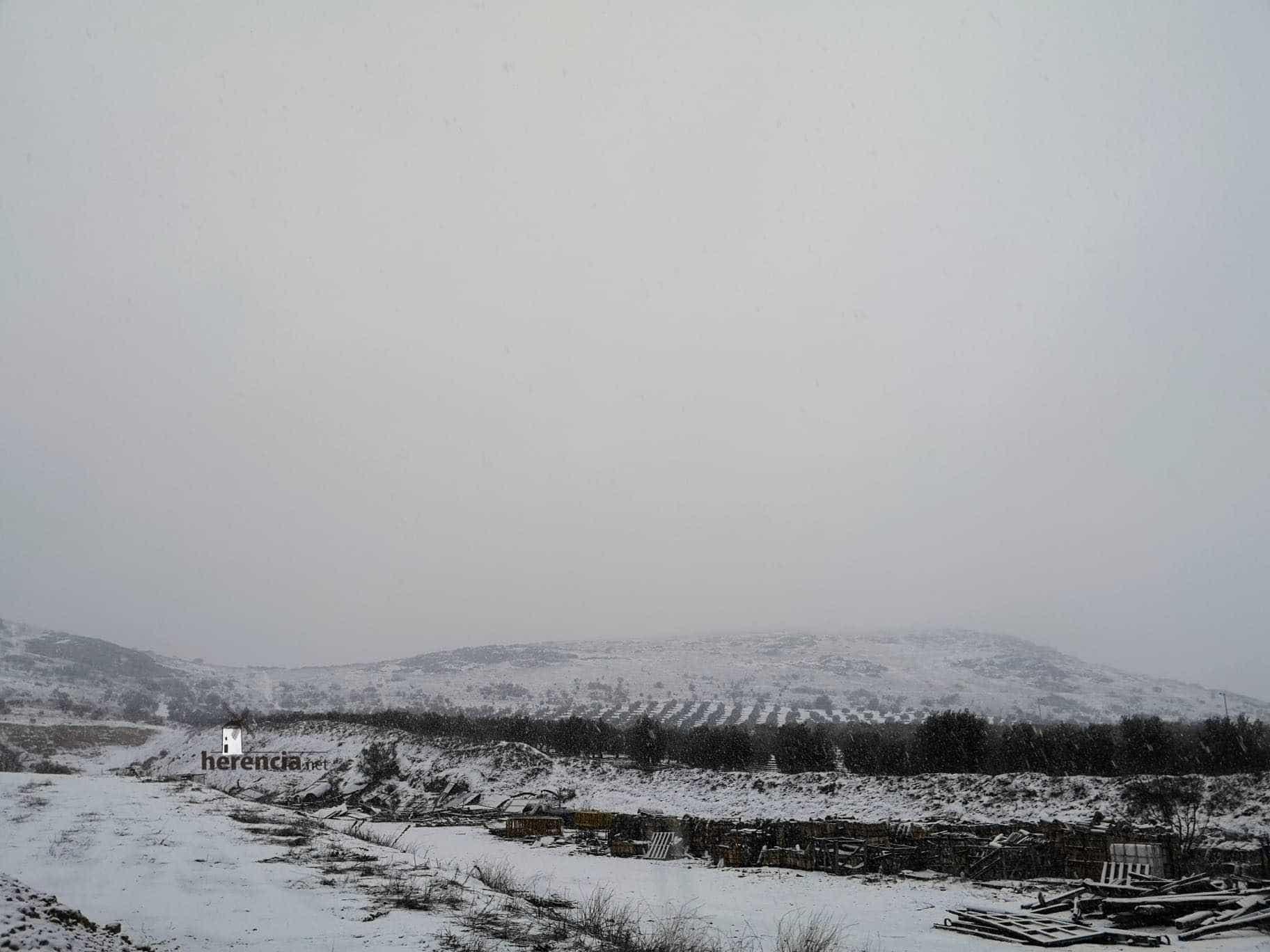 Las nevadas llegan Herencia y a toda Castilla-La Mancha (actualizado) 112