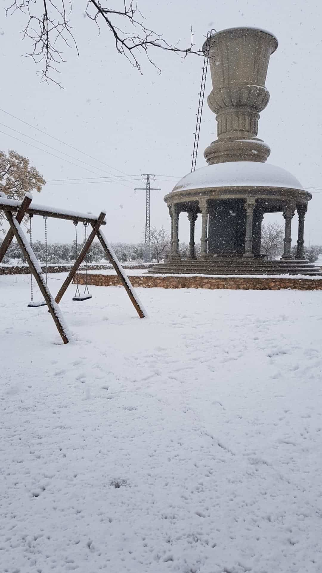 Las nevadas llegan Herencia y a toda Castilla-La Mancha (actualizado) 100