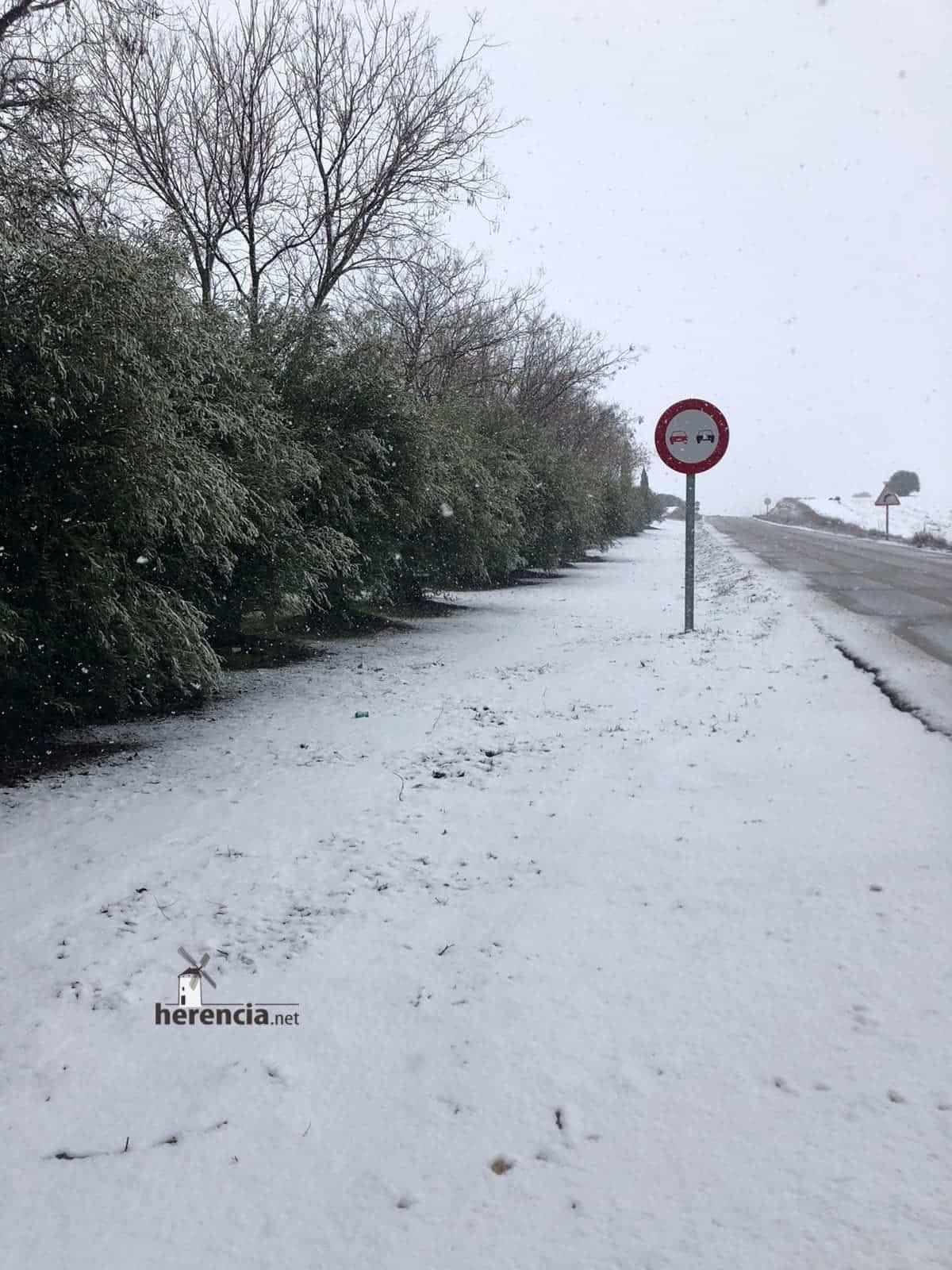 Las nevadas llegan Herencia y a toda Castilla-La Mancha (actualizado) 123