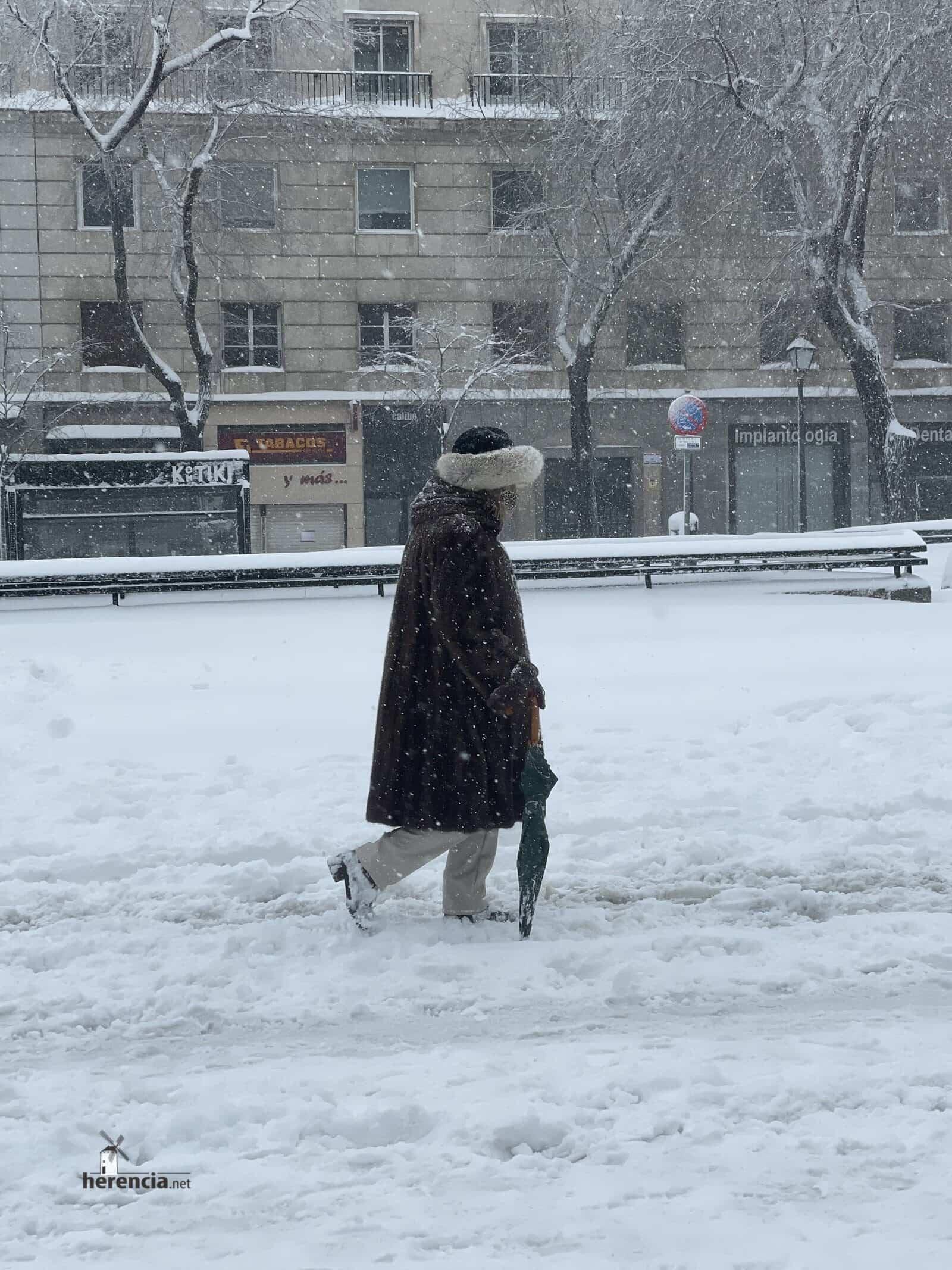 Más fotografías de las nieves de 2021 en Herencia 180