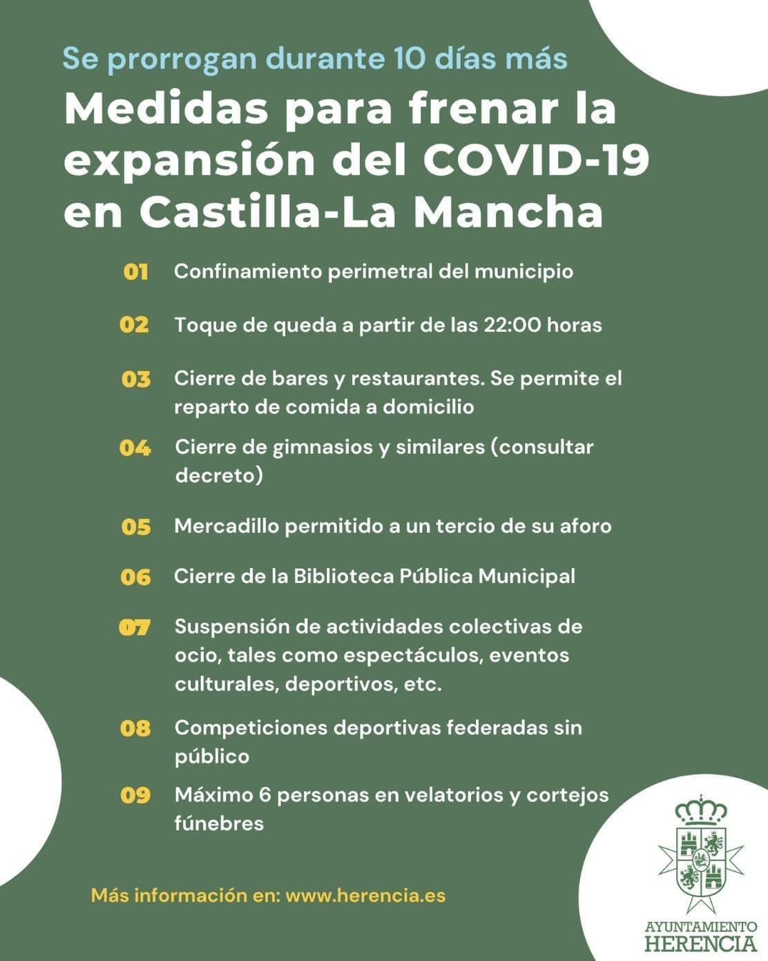 Prorroga de otros 10 días más las medidas para frenar el COVID-19 en Herencia 3