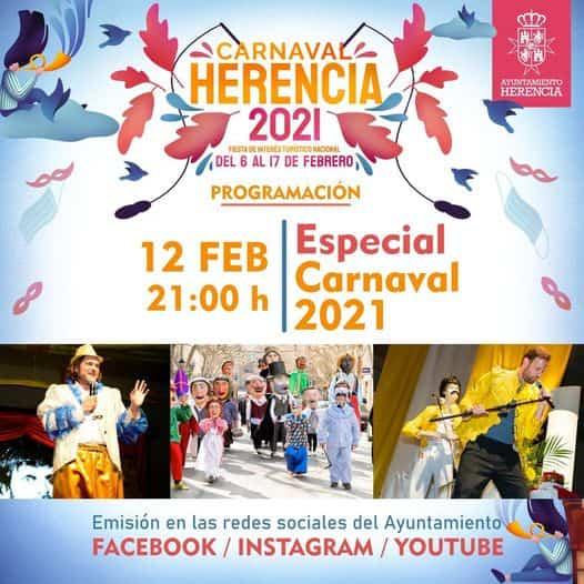 Inauguración online y desde casa del Carnaval de Herencia 1