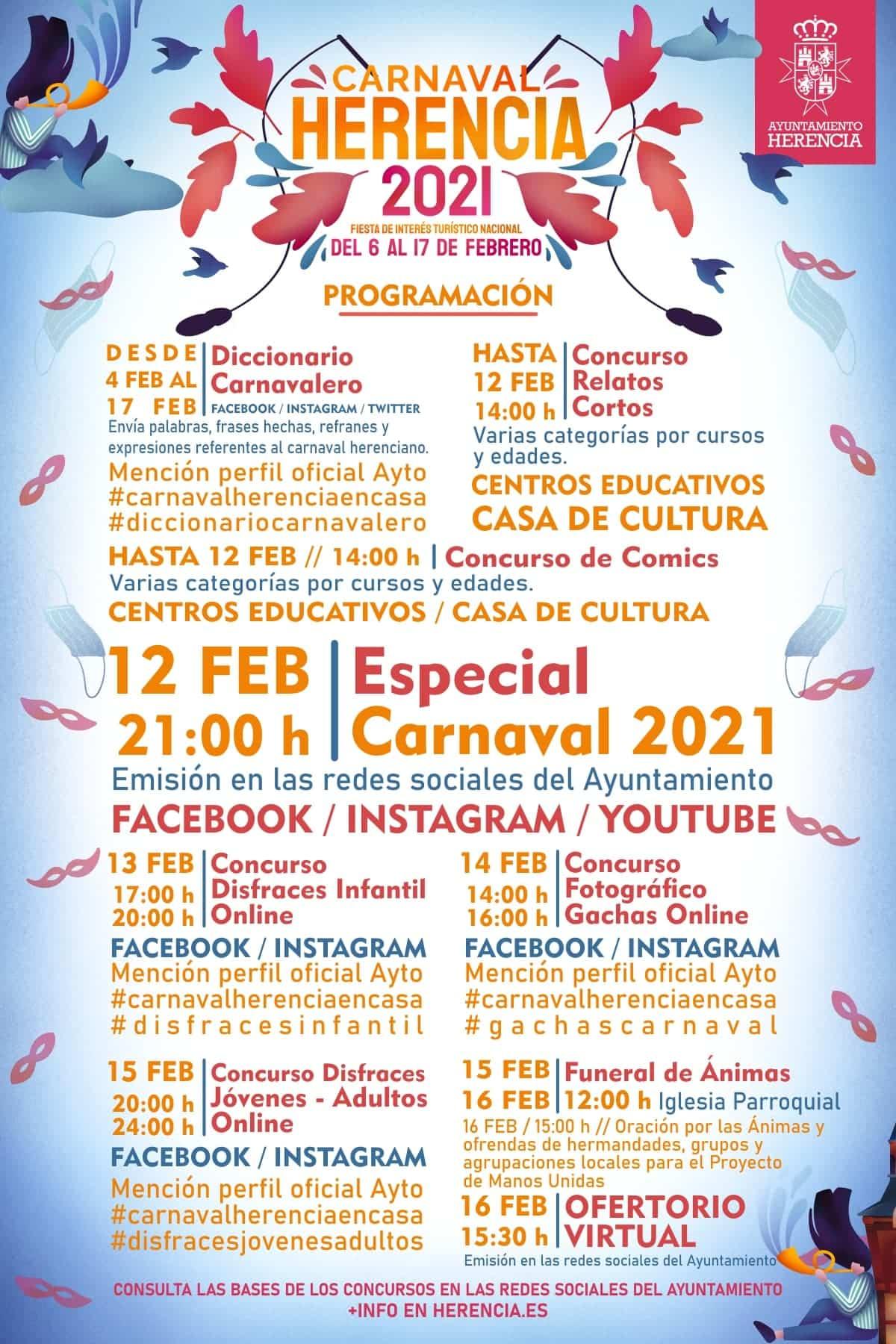 El Carnaval de Herencia se celebrará en la casa de cada herenciano 3