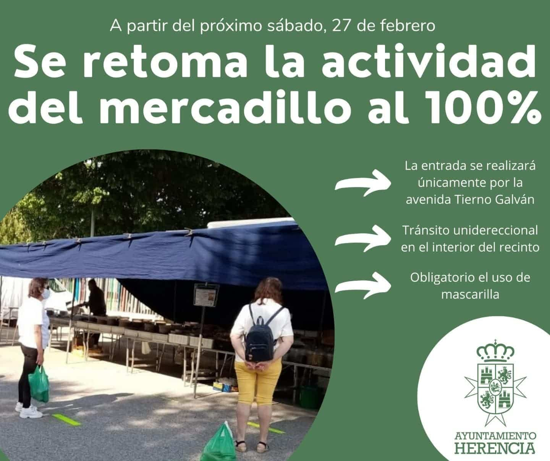 El mercadillo de Herencia abrirá al 100% de su capacidad este fin de semana 3