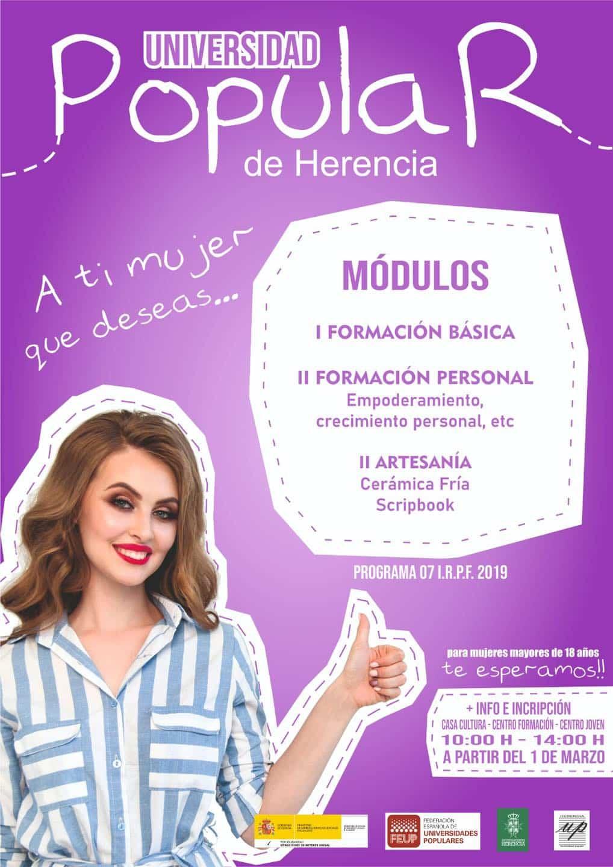 Cursos de formación para mujeres en la Universidad Popular de Herencia 1