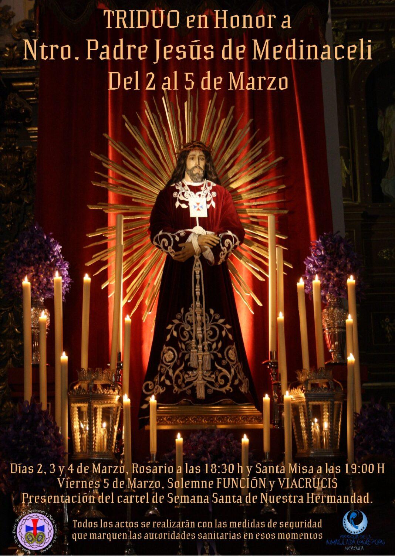 La hermandad de Medinaceli prepara la festividad de su titular y sus actos cuaresmales 1