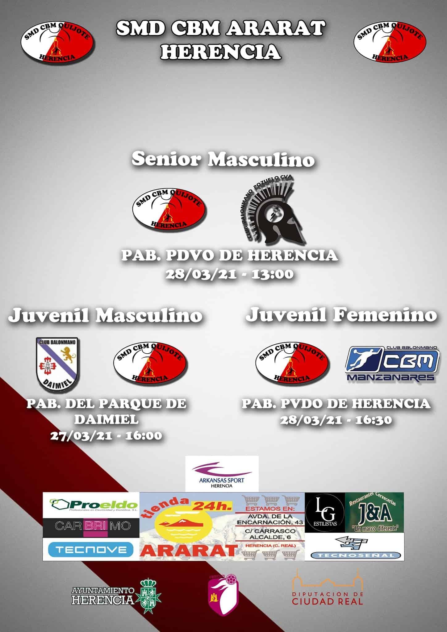 Jornada de balonmano en Herencia este 27 y 28 de marzo 3