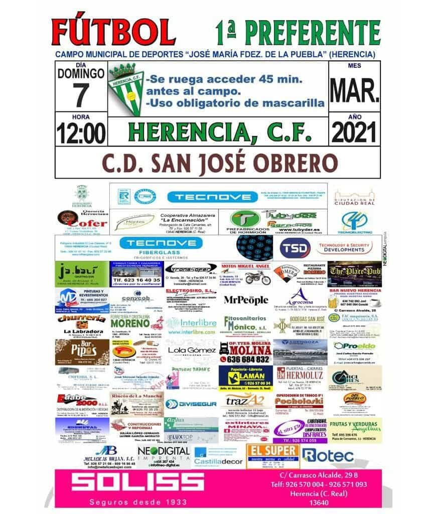 Agenda del fin de semana para el fútbol herenciano el 6 y 7 de marzo 3