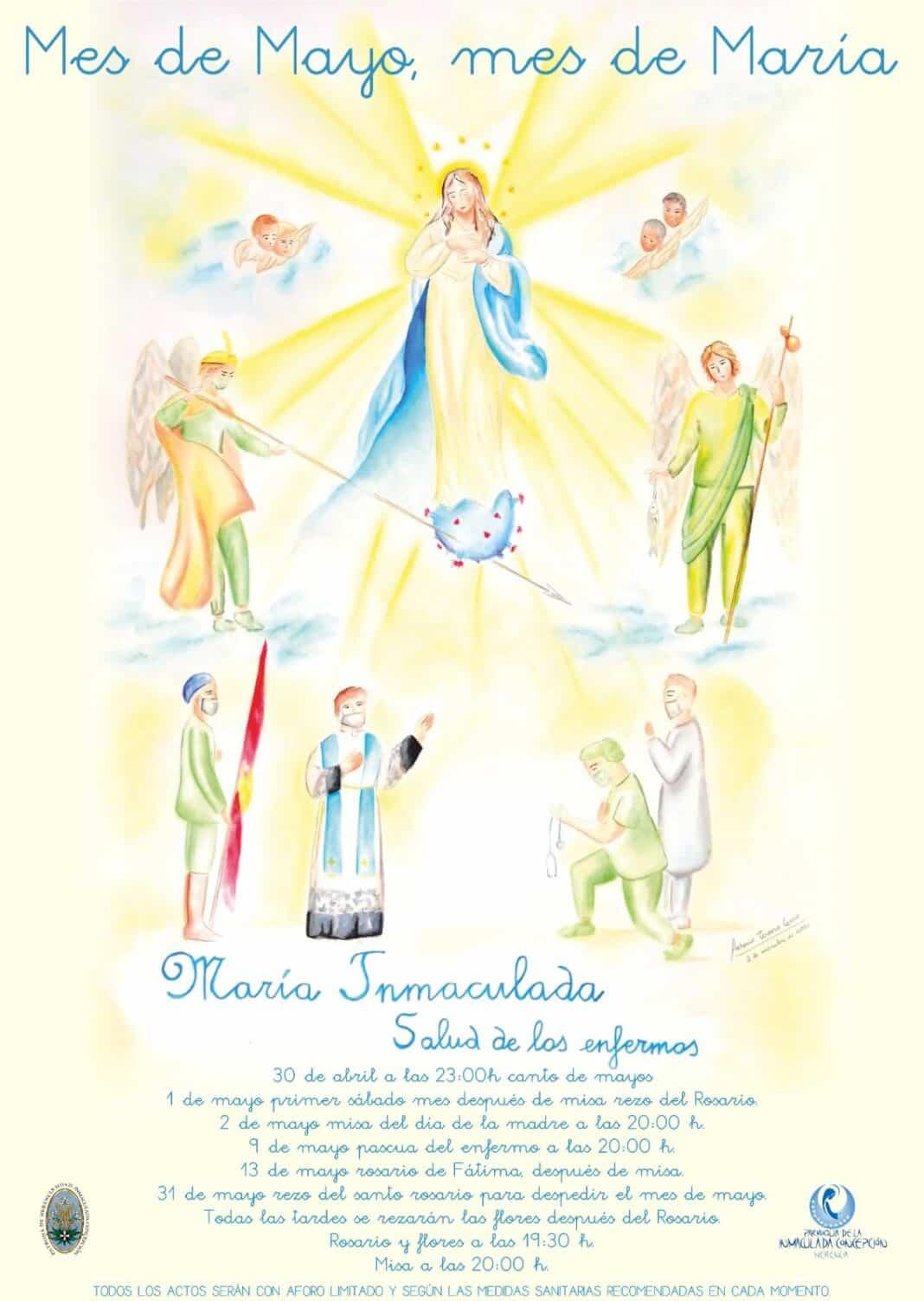 Mes de mayo en la parroquia Inmaculada Concepción de Herencia 1