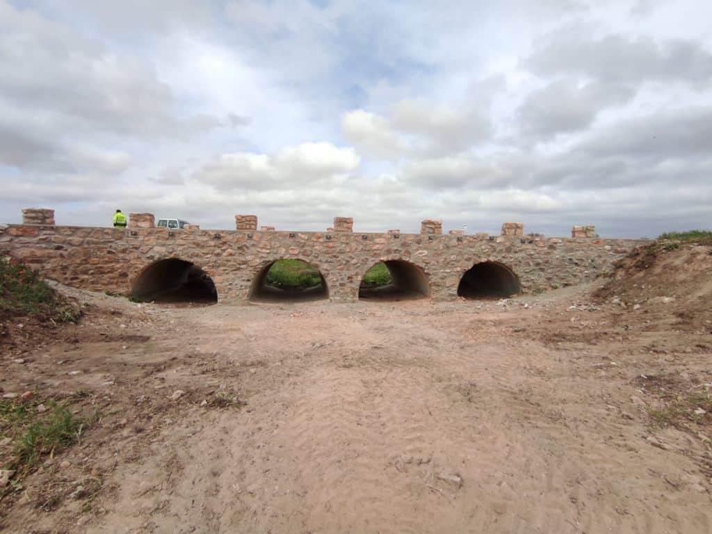 Terminadas las obras sobre el puente de Valdespino 6