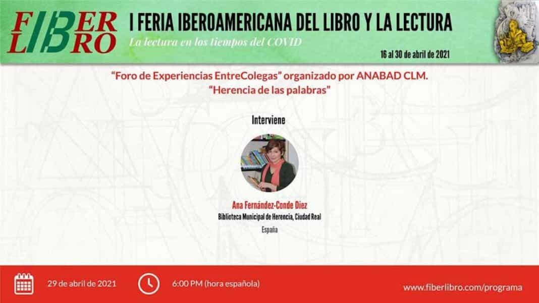 """Ana Fernández-Conde expondrá el proyecto """"Herencia de las palabras"""" en la I Feria Iberomericana del Libro 1"""