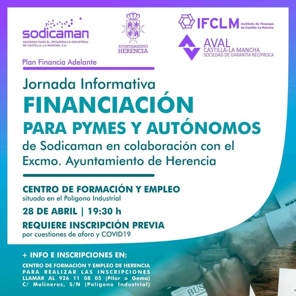Sodicaman organiza una Jornada Informativa sobre financiación para pymes y autónomos en Herencia 3