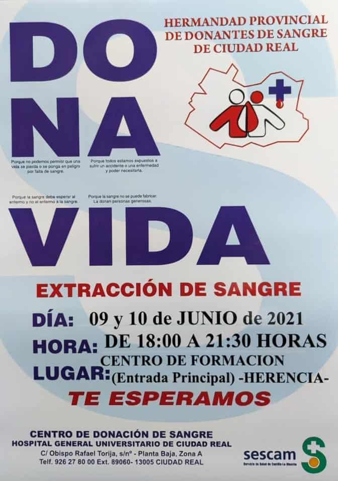 Convocatoria para donación de sangre en Herencia los próximo 9 y 10 de junio 3