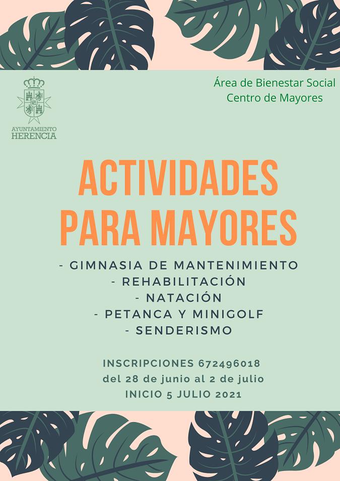 El Centro de Mayores de Herencia se reabrirá a partir del 21 de junio 4
