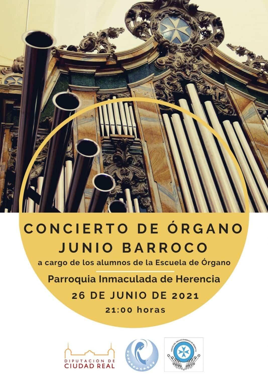 Junio Barroco vuelve con un concierto de la escuela de organistas de la parroquia Inmaculada de Herencia 1