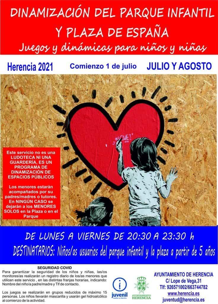 Programa de dinamización infantil en el parque infantil y la plaza de España 5
